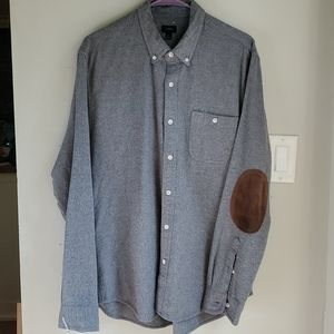 J crew wool blend elbow patch button down Large